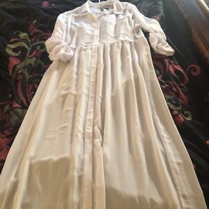 Tommy Bahama Size XL Maxi Dress, Sheer White, New